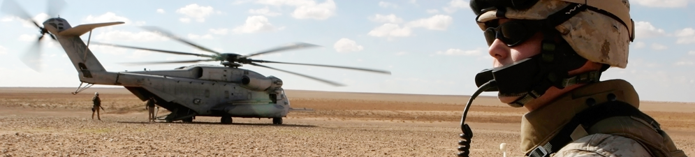 Military Personnel and helicopter